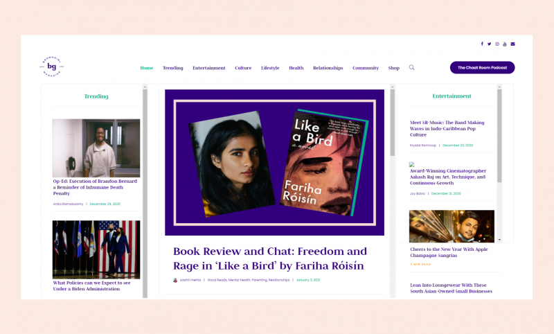 Brown Girl Magazine website